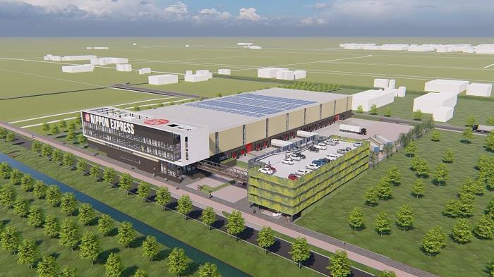 Artist impression of new warehouse Nippon Express
