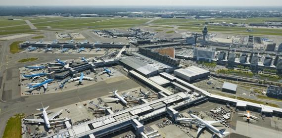 Overview of Schiphol Airport