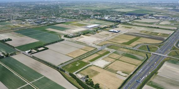 Areal view of business park Schiphol Trade Park